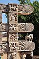 Architraves South Ends - Rear Side - East Gateway - Stupa 1 - Sanchi Hill 2013-02-21 4466.JPG