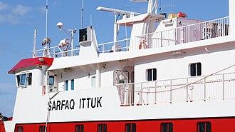 Arctic Umiaq Line - Sarfaq Ittuk moored at Ilulissat port