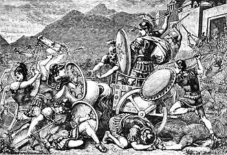 Aristomenes - Aristomenes fighting his way out of Eira.