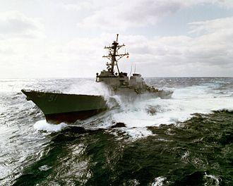 USS Arleigh Burke - USS Arleigh Burke underway in 1993