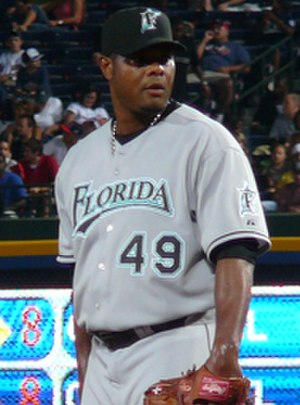 Armando Benítez - Benítez with the Marlins in June 2007