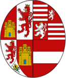 Arms of Margaret of Austria (1584–1611), Queen consort of Spain.png