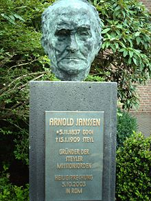 arnold jannsen Founder and first superior-general of the society of the divine word, b at goch in the rhine province, germany, 5 nov, 1837 d at steyl, holland, 15 jan, 1909.