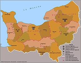 Carte Normandie Departement.Normandie Region Administrative Wikipedia