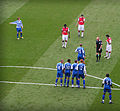 Arsenal vs Reading freekick, 19 April 2008.jpg