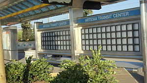Metro ExpressLanes - Image: Artesia Transit Center & Metro Silver Line Picture 3