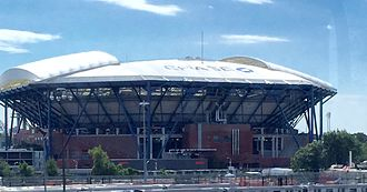USTA Billie Jean King National Tennis Center - Arthur Ashe Stadium, with retractable roof