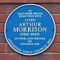 Arthur Morrison blue plaque, Loughton.jpg