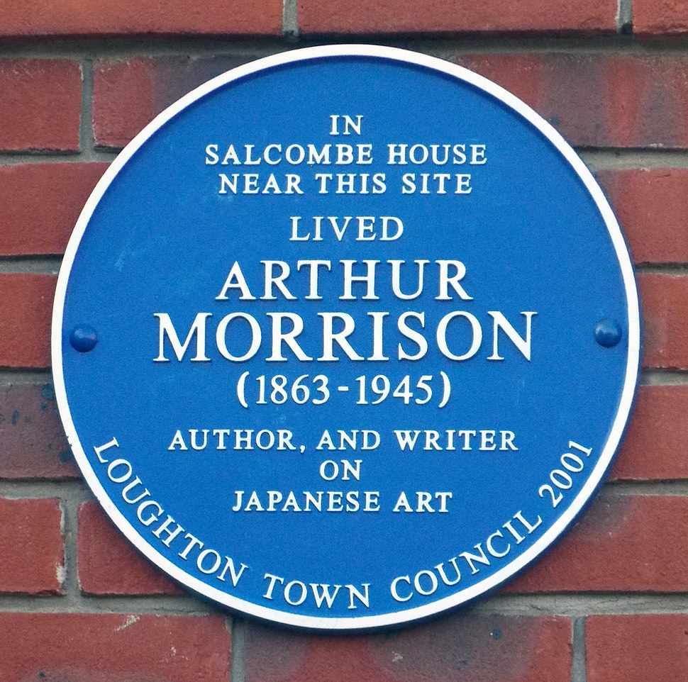 Arthur Morrison blue plaque, Loughton