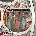 Asciano, museo di palazzo corboli, int., sala di aristotele con affreschi attr. a Cristoforo di Bindoccio e Meo di Pero, XIV sec. 12.JPG