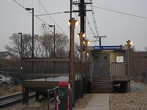 Ashland Avenue station - Image: Ashland Avenue Metra Station