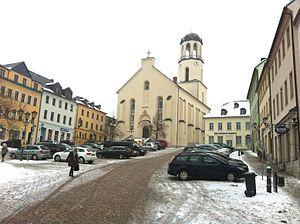 Auerbach (Vogtland) - Image: Auerbach Innenstadt Sankt Laurentius