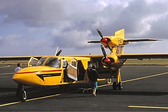 Aurigny - An Aurigny Trislander at Jersey in August 1989
