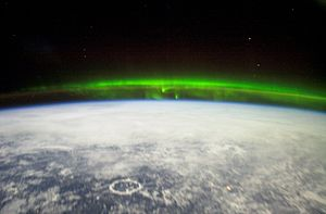 English: The Aurora Borealis or northern light...