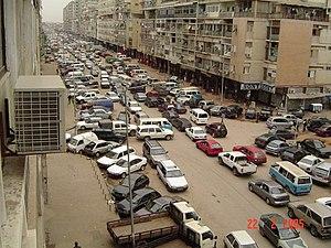 Cenário da Avenida dos Combatentes, Luanda.