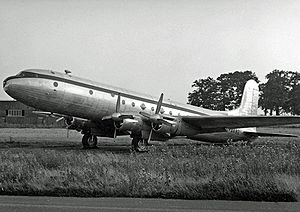Avro Tudor - Tudor V ex BSAAC and BOAC in storage at London Stansted Airport in 1953