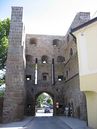 Freistadt - Image: Böhmertor von innen