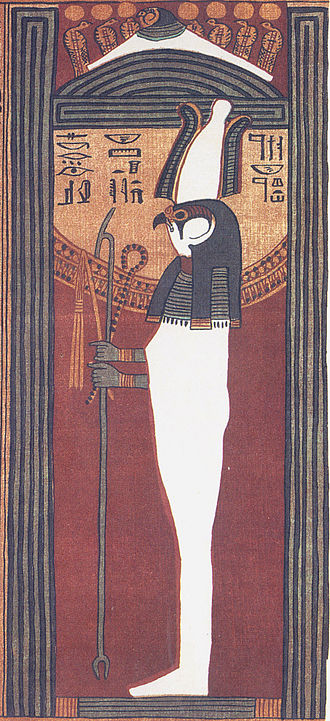 Seker - Seker-Osiris. Facsimile of a vignette from the Papyrus of Ani.