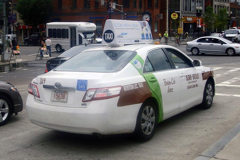 Preço para andar de táxi em Boston