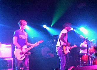 Silent Alarm - Bloc Party on stage at Manchester Academy 3 on 29 January 2005 during the NME Awards Tour