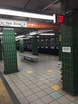 Race–Vine station - BSL Race-Vine northbound platform