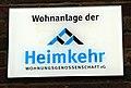 Badenstedter Straße 28, Hinweisschild für den gesamten Baukomplex Wohnanlage der Heimkehr Wohnungsgenossenschaft eG.jpg