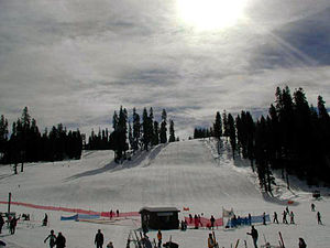 Badger Pass Ski Area - Image: Badger pass slopes 1