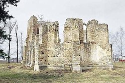 Ruins of the early 15th century Roman Catholic church