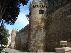Baku Fortress Wall view from Sabir Park.jpg