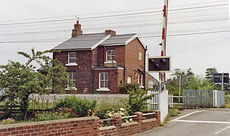 Balne - The station house in 1992