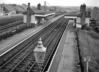 Euxton Balshaw Lane railway station - Image: Balshaw Lane & Euxton Station 1749966 050c 14df