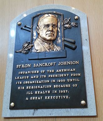 Ban Johnson Park - Ban Johnson HOF plaque