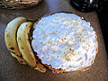 Banana cream pie and four bananas.jpg
