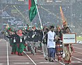 Bangladesh players taking part in the ceremonial march pass, on the occasion of the 12th South Asian Games-2016, at Indira Gandhi Athletics Stadium, in Guwahati, Assam on February 05, 2016.jpg
