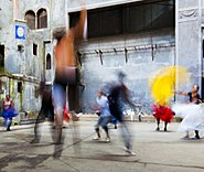 Banrarra Afro-Cuban dance troupe 3, Havana Jan 2014, image by Marjorie Kaufman