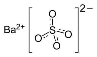 Barium sulfate - Image: Barium sulfate 2D