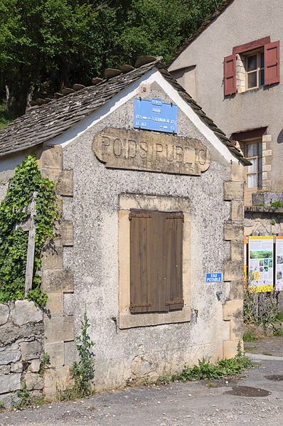 Former weigh bridge, located on Place de la Loue in Barre-des-Cévennes, Lozère, France
