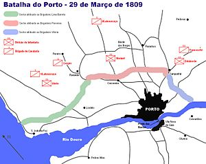 First Battle of Porto - Troop movements
