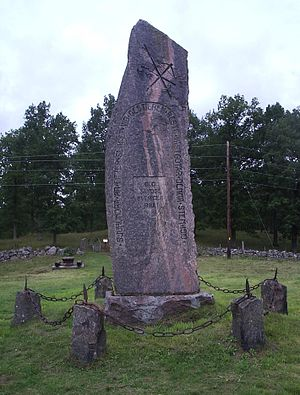 Battle of Gestilren - Battle of Gestilren memorial in Varv's parish, Västergötland