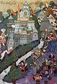 Battle of Nicopolis, 1396, Facsimile of a Miniature Conserved in the Topkapi Museum in Istanbul-.jpg