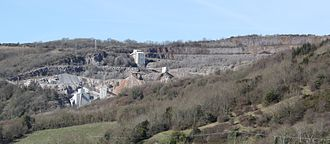 Cheddar, Somerset - Batts Combe Quarry from the lookout tower above Cheddar Gorge
