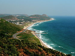 Bay of Bengal Day time view from Kailasagiri