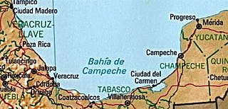 Bay of Campeche A bight in the southern area of the Gulf of Mexico
