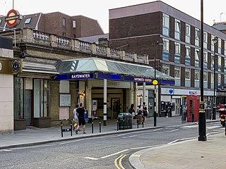Bayswater tube station London Underground station