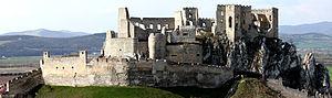Ridge castle - Beckov Castle, Slovakia