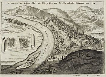 Panorama of Buda and Oven for the siege in 1684