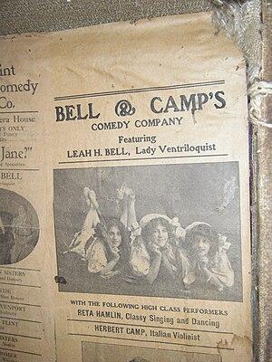 Arthur Hornbui Bell - Image: Bell and camp hand bill