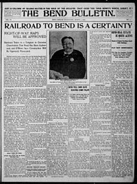Bend Bulletin (front page), 3 March 1909.jpg