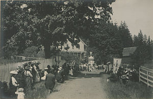 Quamichan - Benediction at St. Anne's Convent, Quamichan, 1912.
