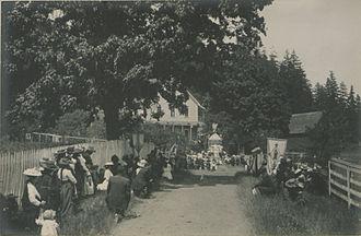 Quamichan - Benediction at St. Anne's Convent, Quamichan, 1912.